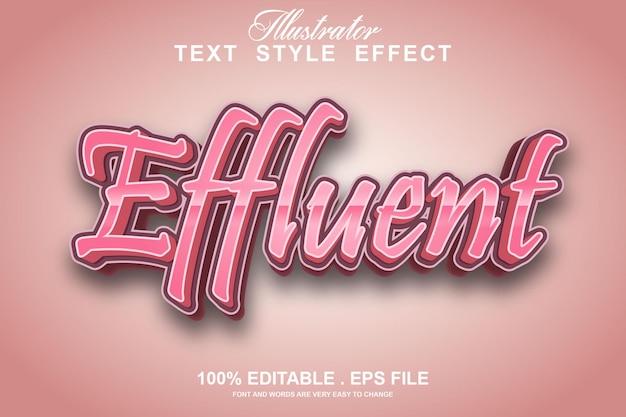 Effluent text effect editable