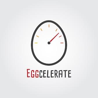 계란 가속 로고 템플릿.
