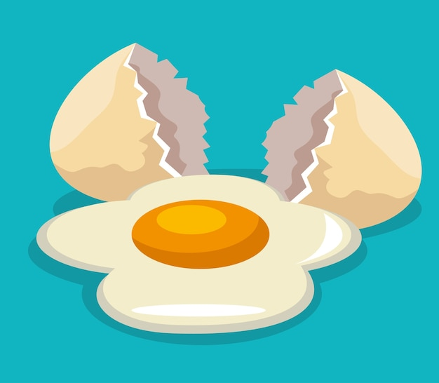 Egg broken isolated icon