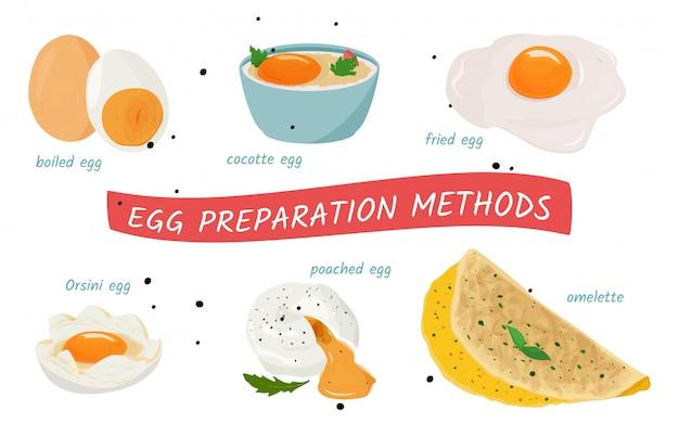Сбор яиц. Premium векторы