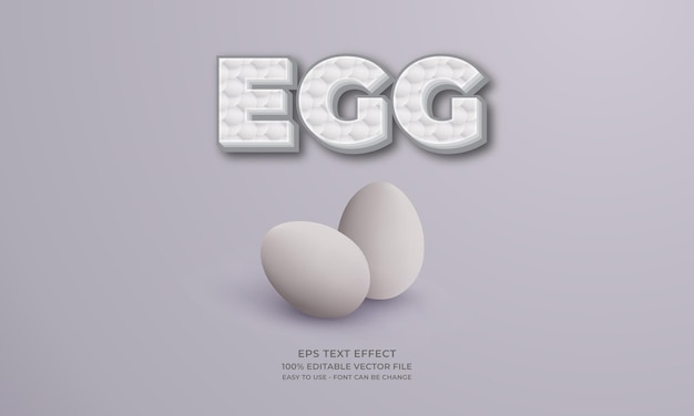 Egg editable text effect with eggs illustration