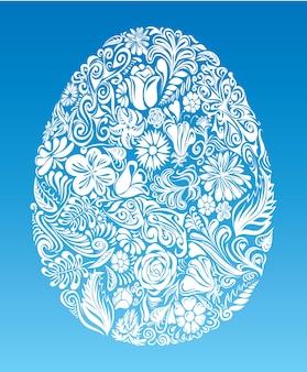 Egg of floral shapes