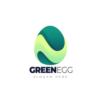 Egg gradient logo template