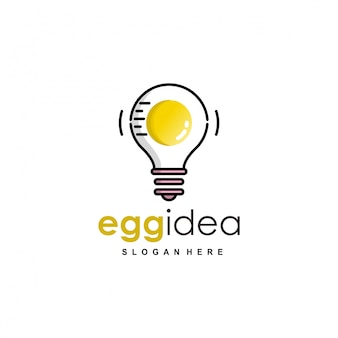 Egg idea logo breakfast