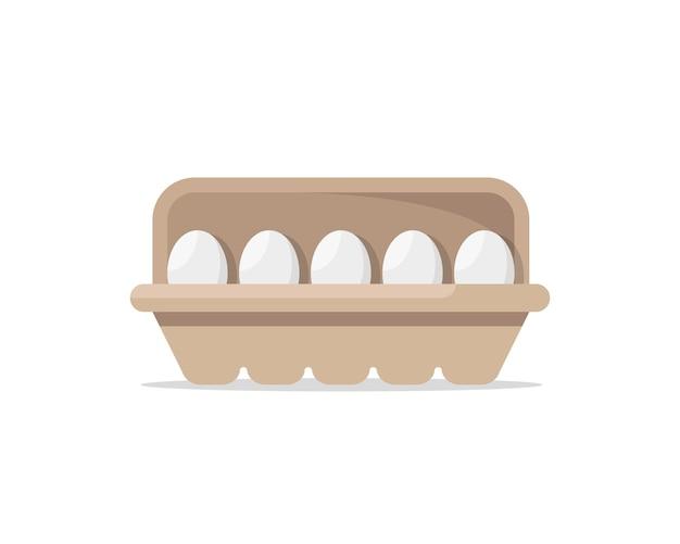 Яйцо на яичной бумажной панели или лотке для яиц