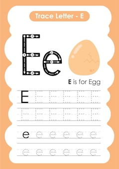Egg trace lines writing and drawing practice worksheet for kids