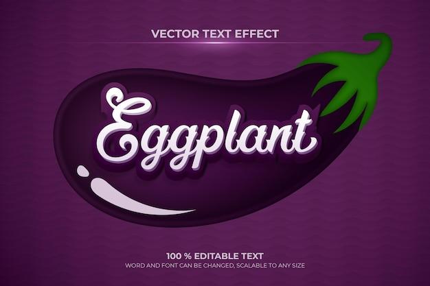 Eggplant editable 3d text effect