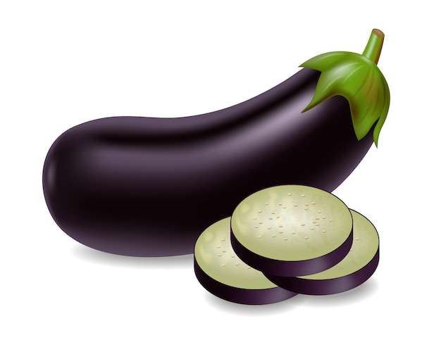 Eggplant with slices