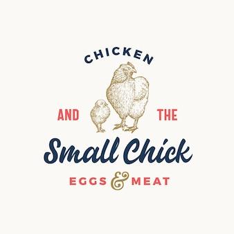 Яйца и свежая птица абстрактный знак