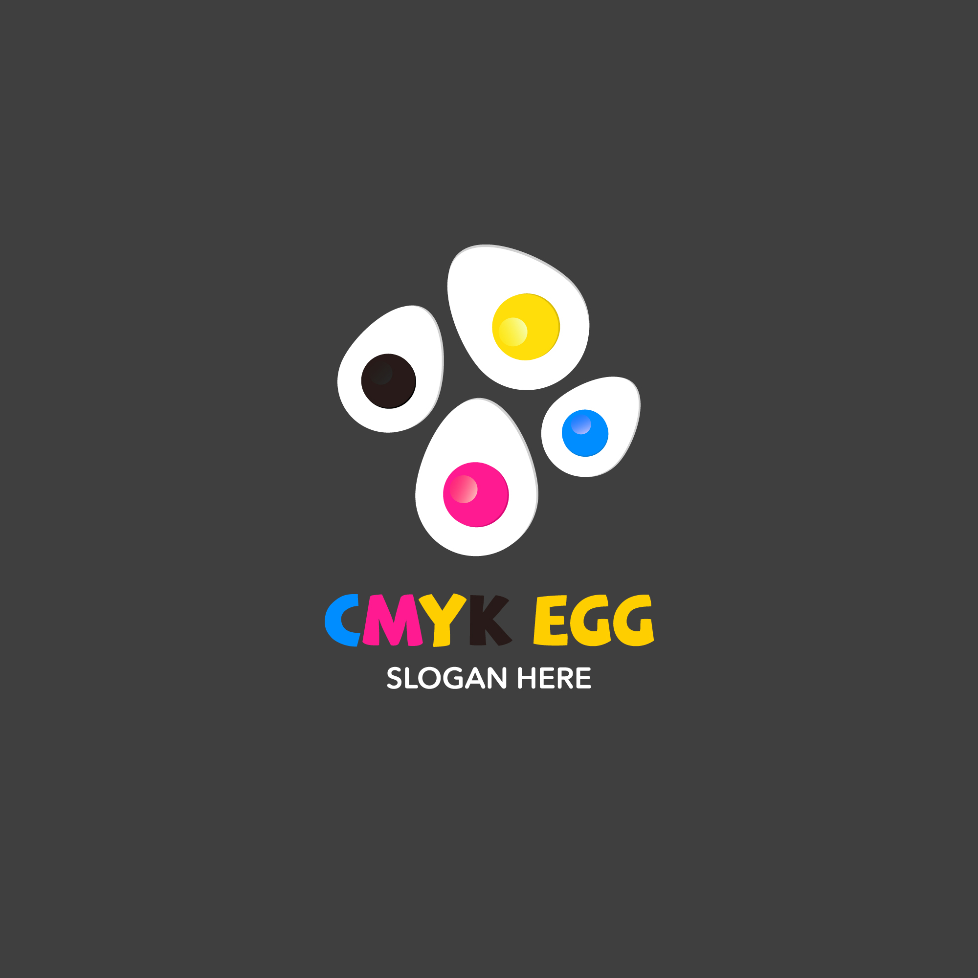 Eggs logo on grey background