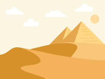 Egypt and pyramids illustrations