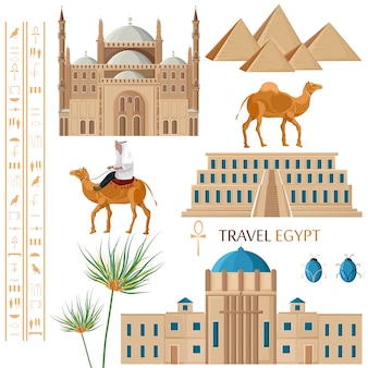 Egypt architecture and symbols