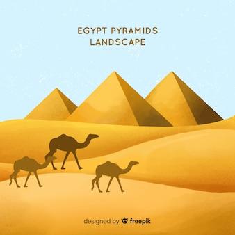 Egypt background with landscape