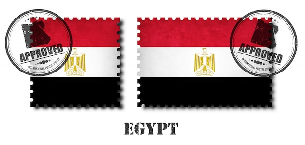Egypt or egyptian flag pattern postage stamp
