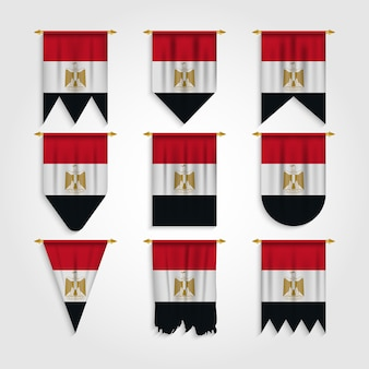 Egypt flag in different shapes, flag of egypt in various shapes