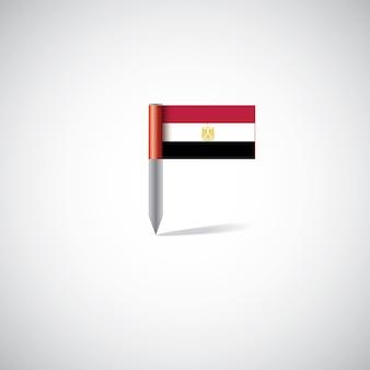 Булавка флаг египта, изолированные на белом фоне