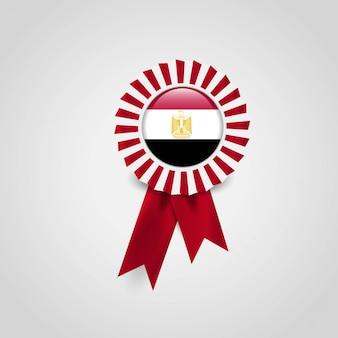 Egypt flag ribbon banner badge