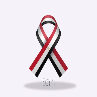 Egypt flag ribbon design