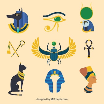 Egypt gods and symbols collectio