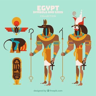 Egypt gods and symbols collectio