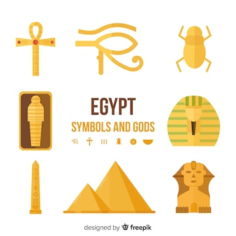 Egypt gods and symbols set