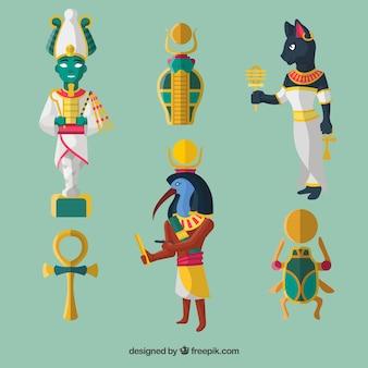 Set di simboli e divinità egiziane