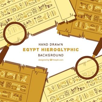 Egypt hieroglyphic background