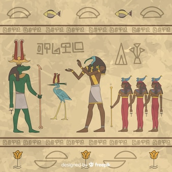이집트 상형 문자 배경
