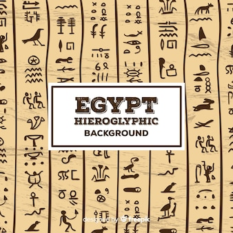 Egypt hieroglyphic pattern background