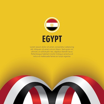 Egypt independence day vector template design illustration