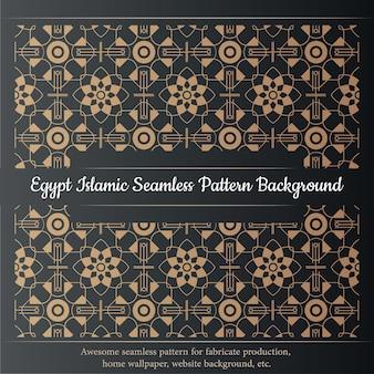 エジプトのイスラムのシームレスなパターンの背景