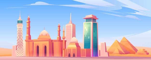 Достопримечательности египта, экран мобильного телефона города каира