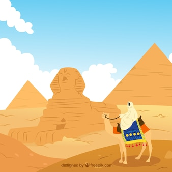 Egypt landscape illustration