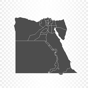 透明に分離されたエジプトの地図