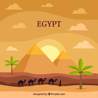 Egypt piramids background