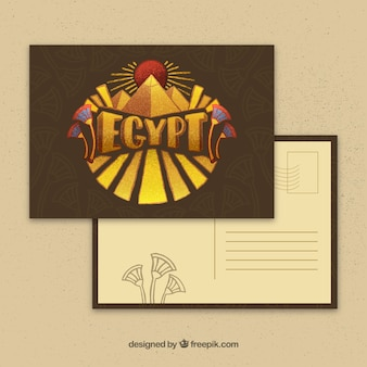 Egypt postcard template