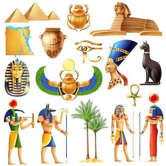 Insieme di simboli dell'egitto