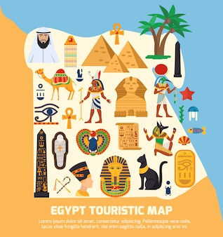 Egypt touristic map