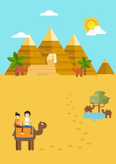 Egypt travel and tourism,time to travel.illustration