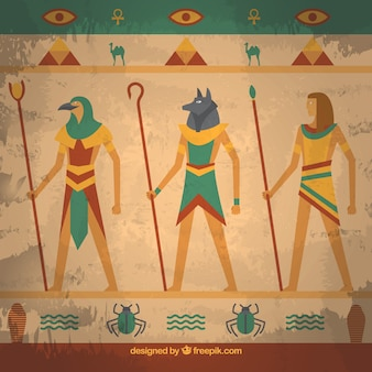 Egypt wall painting background