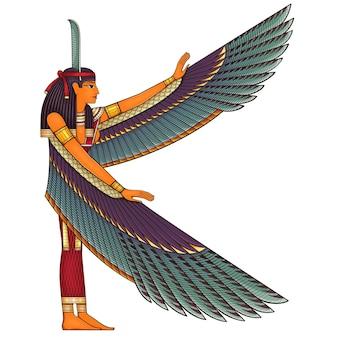 エジプトの古代のシンボル宗教アイコンエジプトdeiteisculturedesignelementisis