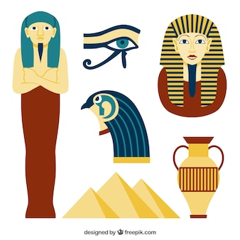 Egyptian culture elements collection