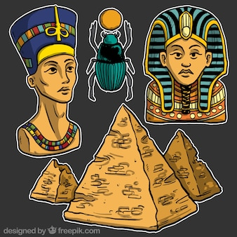 Egyptian culture illustrations