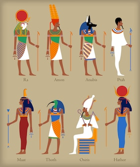 Egyptian gods icons