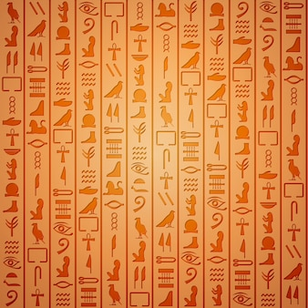 Egyptian hieroglyphics. symbol ancient, egyptian culture, egyptian old writing, vector illustration