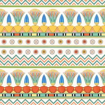 エジプトの装飾的なシームレス パターン背景