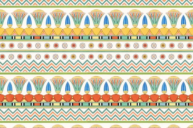 エジプトの装飾用のシームレスなベクトルパターンの背景