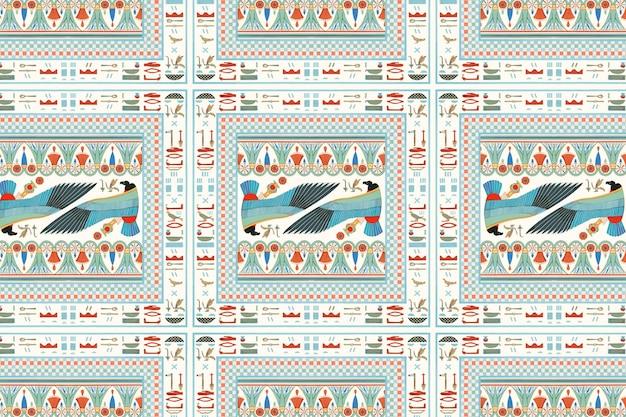エジプトの装飾的なベクトルのシームレスなパターンの背景