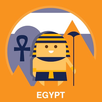 Egyptian in traditional clothes illustration