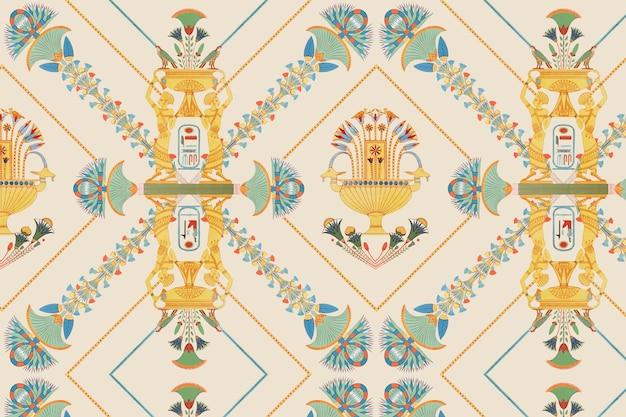 エジプトのベクトル装飾用シームレスパターン背景